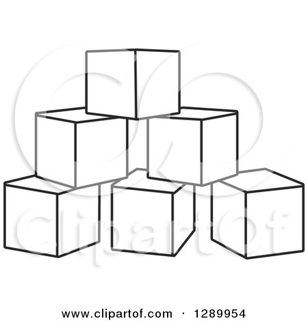 Royalty-Free (RF) Clipart of Toy Blocks, Illustrations