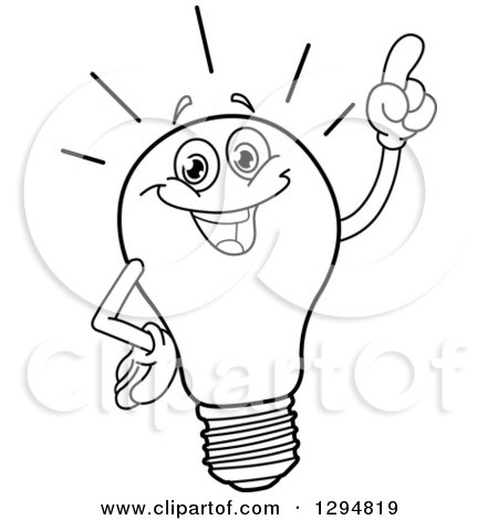 Royalty-Free (RF) Clipart Illustration of a Yellow Light