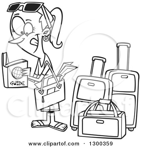 travel clipart black and white