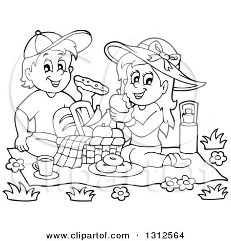 Royalty-Free (RF) Clipart of Picnics, Illustrations