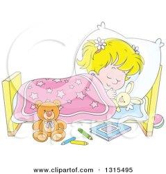 cartoon bed clipart sleeping boy peacefully sleep go into waking trying blond nap illustration pillow tucked head poster eye vector