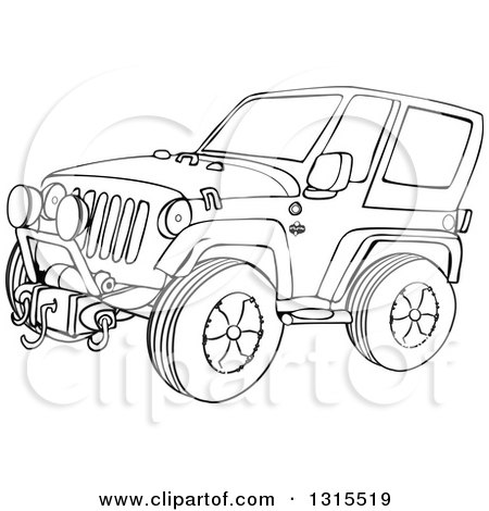 Clay Sculpture Clipart Teenagers Four Wheeling In A Jeep