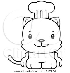 cute cartoon kitten clipart cat happy chef outline animal prince lineart illustration royalty cory thoman vector rf illustrations clipartof