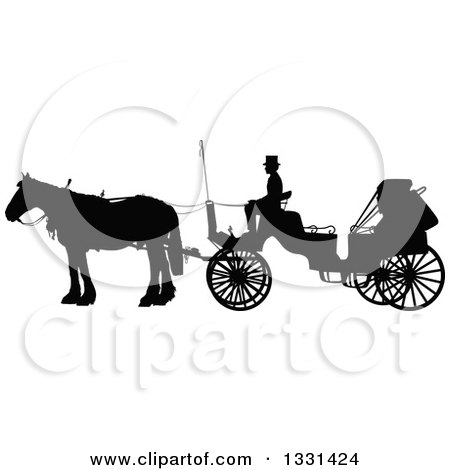 Black And White Amish Buggy Outline Posters, Art Prints by