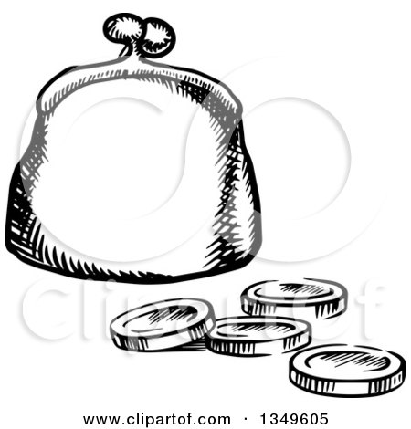 Royalty-Free Vector Clip Art Illustration of a Blue Coin