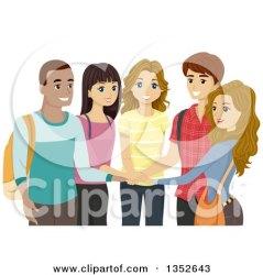 clipart students circle illustration happy diverse hands royalty looking vector bnp studio rf clipartof