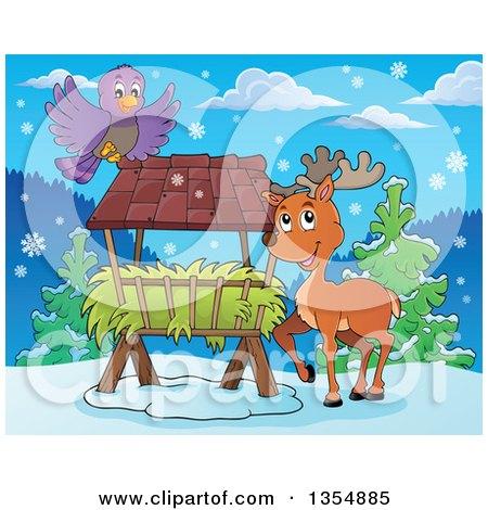 clipart of cartoon reindeer
