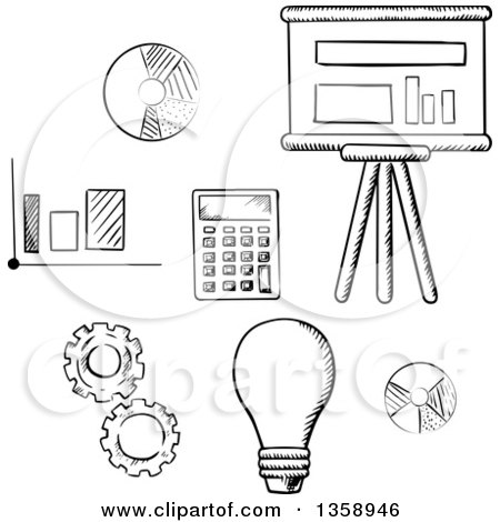 Royalty-Free (RF) Calculator Clipart, Illustrations