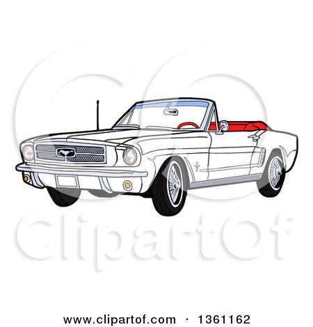 RoyaltyFree RF 1964 Mustang Clipart Illustrations