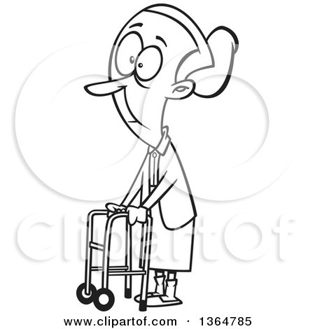 Old Man Sitting In a Recliner Chair Clipart Picture by