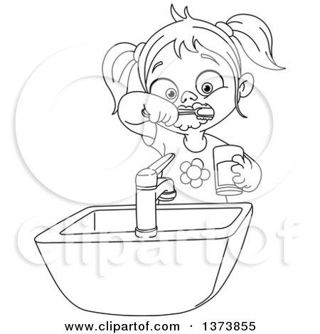 Royalty-Free (RF) Brushing Teeth Clipart, Illustrations