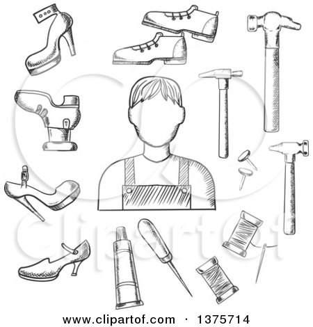 Clipart of a Seamless Background Pattern of Tools