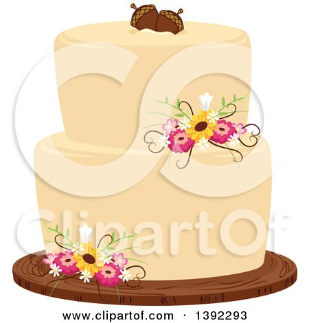 Clipart Of A Pink Parisian Cake With An Eiffel Tower