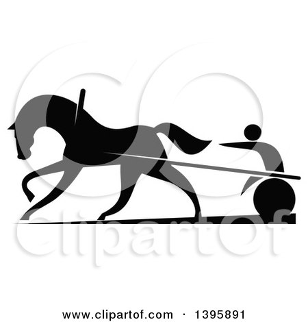 Royalty-Free (RF) Harness Race Clipart, Illustrations