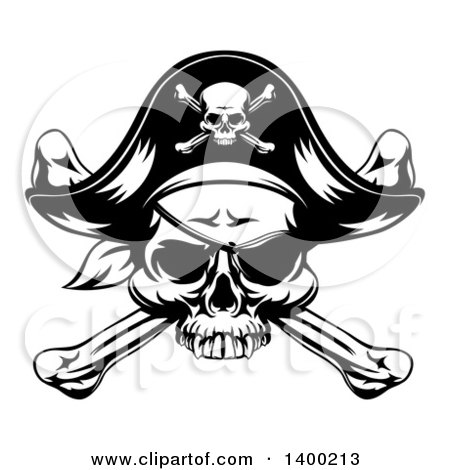 Royalty-Free (RF) Pirate Hat Clipart, Illustrations