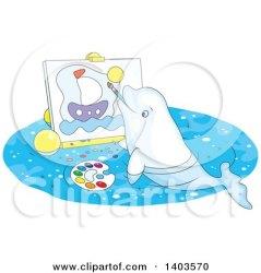 whale beluga cartoon cute painting sailboat canvas clipart illustration royalty bannykh alex vector smiling waving circle collc0056 clipartof