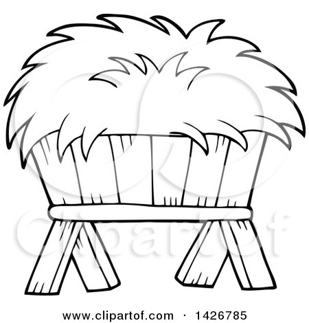 hay bale - free coloring pages