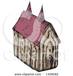 medieval church illustration clipart royalty sketched vector patrimonio clip copyright