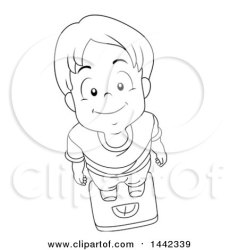 boy looking standing lineart scale illustration clipart vector royalty clip bnp studio