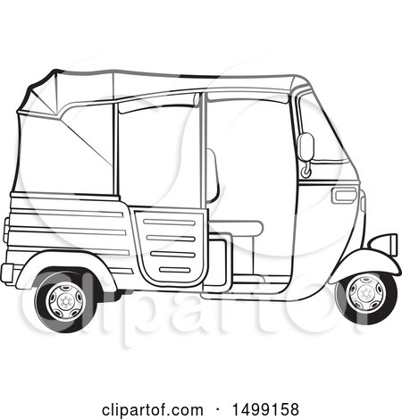 Royalty-Free (RF) Clipart Illustration of an Outlined 3