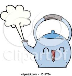 Cartoon Boiling Kettle by lineartestpilot #1519734
