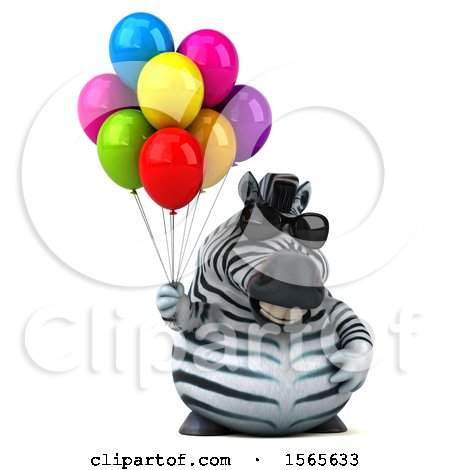 clipart of 3d zebra exercising
