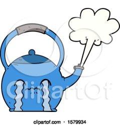 Cartoon Boiling Kettle by lineartestpilot #1579934