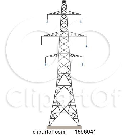 Royalty-Free (RF) Pylon Clipart, Illustrations, Vector