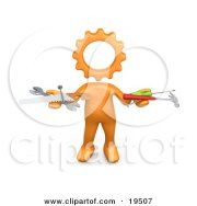 orange person with head