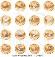 royalty-free rf clipart of mirrors