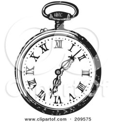 pocket tattoo clipart stencil simple retro clock illustration drawing royalty bestvector drawings pocketwatch watches rf outline tattoos clocks rabbit askideas