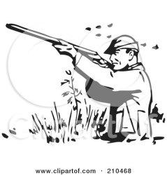shooting clipart ducks hunt wading illustration hunting hunter retro dog clip royalty bestvector rf duck clipground clipartof