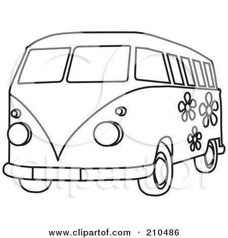 Royalty-Free (RF) Clipart Illustration of a Red Car With
