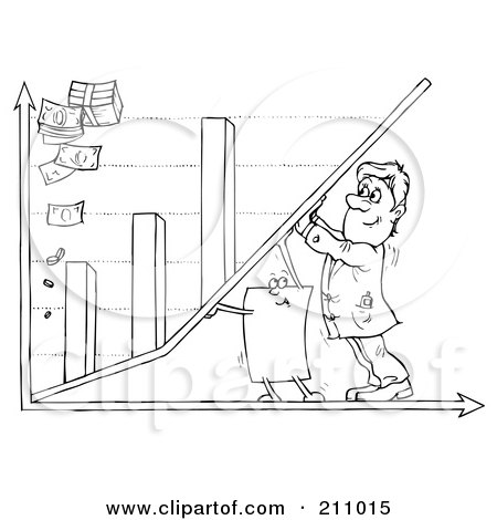 Coloring Page Outline Of A Businessman And Paper Pushing