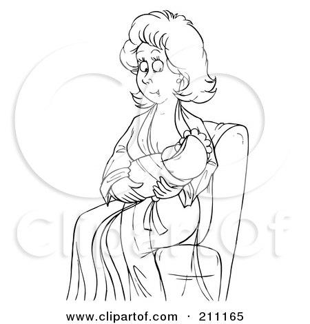 Royalty-Free (RF) Breast Feeding Clipart, Illustrations