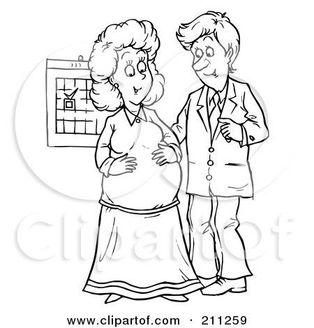 Royalty-Free (RF) Pregnancy Clipart, Illustrations, Vector