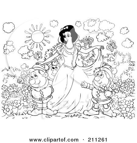 Royalty-Free (RF) Clipart Illustration of The Seven Dwarfs