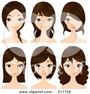 royalty free hairstyle illustrations