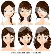royalty-free rf pretty girl clipart