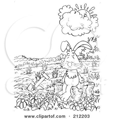 Rabbit garden printable Trials Ireland