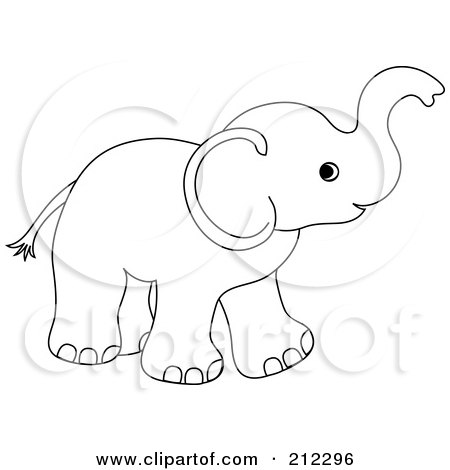 Royalty-Free (RF) Clipart Illustration of a Cute Outlined