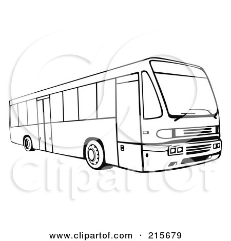 Royalty-Free (RF) Clipart Illustration of a Retro Coach