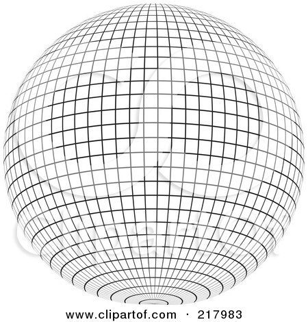 Royalty-Free (RF) Clipart Illustration of a 3d Red Ball