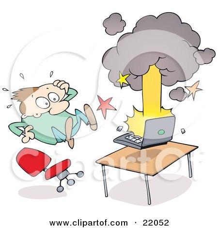 Patlayan Bilgisayar Karikatürü