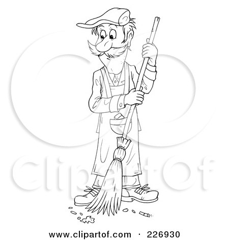 Royalty-Free (RF) Clipart Illustration of a Cartoon Happy