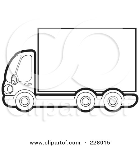 clipart semi-truck and trailer