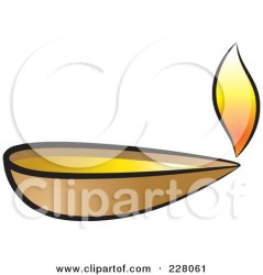 Royalty Free RF Clipart Illustration of a Clay Oil Lamp by Lal Perera #228061