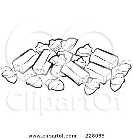 Royalty-Free (RF) Clipart Illustration of Three Wrapped