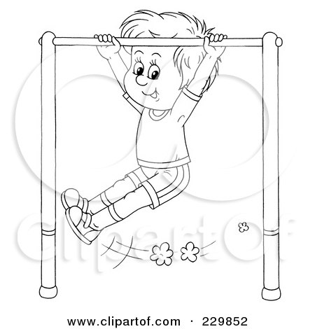 RoyaltyFree RF Clipart Illustration of a Coloring Page