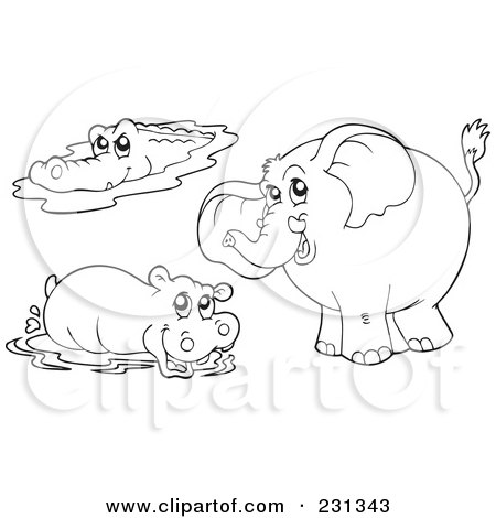 Royalty Free Stock Illustrations of Crocodiles by visekart